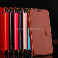Hot new products for 2015 pu leather flip phone case for samsung galaxy note 2