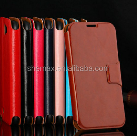 Hot new products for pu leather flip phone case for samsung galaxy note 2
