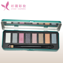 iron box packing 8 shades makeup eyeshadow