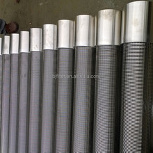 manufacture factory water well sand control continuous slot v wire wrapped water well spiral welded perforated metal pipe