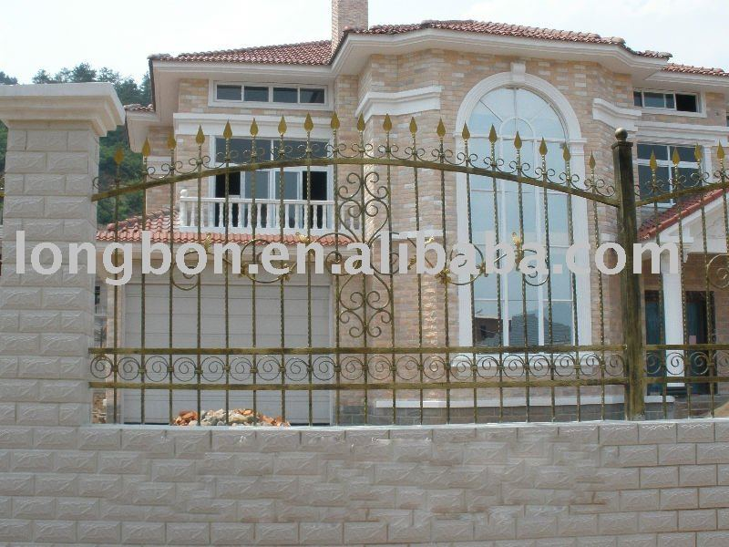 2014 newest Hand forged color steel fence panel