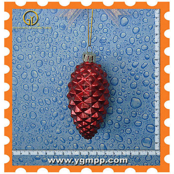Sell glass pinecone ornaments,homemade glass ornaments,glass deer ornaments