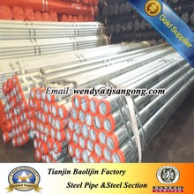 Hot dip Galvanized tube for Hingway guardrail