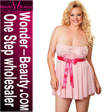New Style Sexy Unique Pink Babydoll Sexy See Through Hot Nighty Girls Short Sexy Nighty
