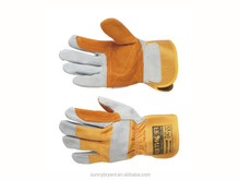 Split Reinforced Double Leather Palm Safety Working Gloves Perfect for Gardening or General Purpose