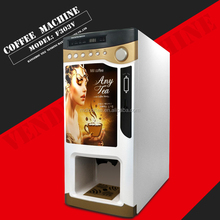 tea coffee soup instant powders coin operated 3 flavors vending machine