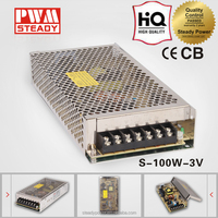 steady s-100-3 with ce 220vac to 3volt 20a AC DC china supplies smps led driver model dc power supply psu transformer