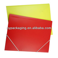 Custom A4 Stationery PP File Folder LOGO Printing Plastic Folder With Elastic