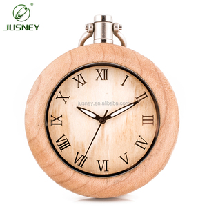 Wholesale OEM Wooden Pocket Watch Men Life Waterproof Handmade Japan Quartz Movt Bamboo Outdoor Custom Pocket Watches Engraved