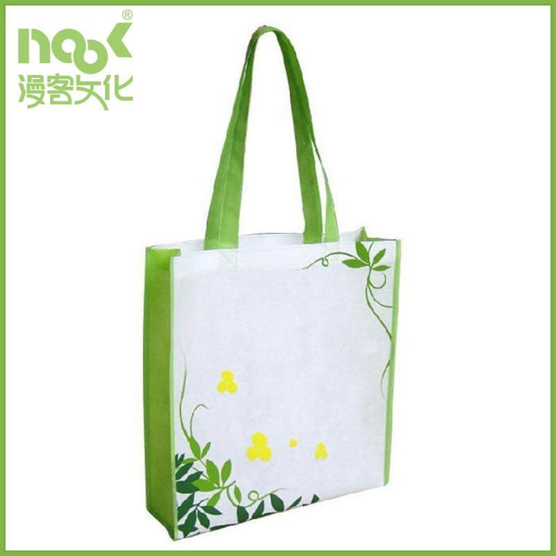 custom made Cute cheap pp non woven shopping bag with tote handle