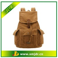 fashion canvas backpack for teenage girls,cheap girls school backpack,khaki canvas backpack