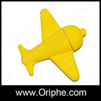 2014Newest production,pvc airplane shape usb flash drive string