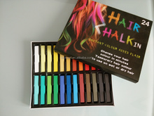 2016 popular chalk no damage easy hair coloring 24 colors temporary color chalk for hair dye