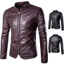 M-5XL Stylish <strong>men's</strong> ready stock faux leather <strong>jacket</strong>