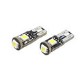 Super white T10 W5W DC12V 3 SMD 5050 error free Auto led T10 interior liamp for car accessories