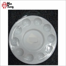 10 wells Round Shape Plastic Painting Palette with clear cover