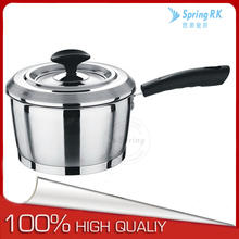 Stainless steel non-stick milk pot with side handle