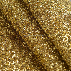 Knitted backing glitter leather fabric for slipper