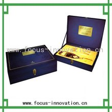 aluminum profile waterproof shell wine boxes/cases with lock and handle