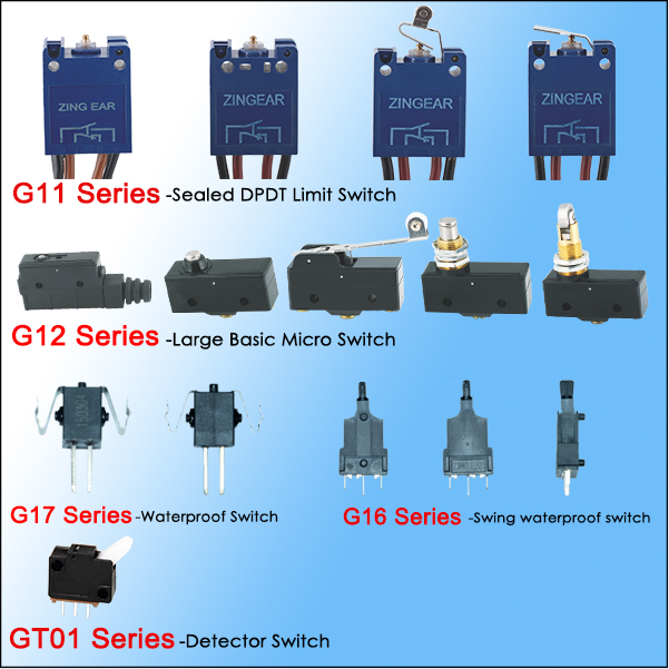 Wire Leads Waterproof IP67 10A 125VDC Micro Switch