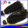 100% full cuticle unprocessed virgin human hair extensions weave curly afro kinky human hair extensions