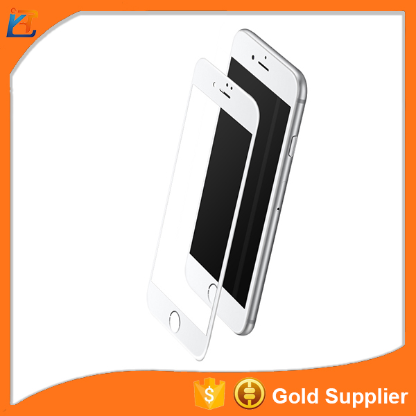 Factory supplier 4d anti glare anti scratch screen guard tempered glass for iphone 7