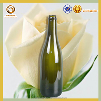 hot sale colored glass wine bottles for champagne
