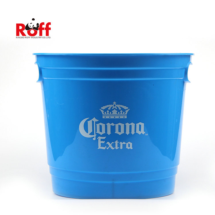 6L custom logo promotional gifts custom wine beer plastic ice bucket