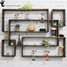 Pan home decoration wall hanging , wooden wall shelf for home decor