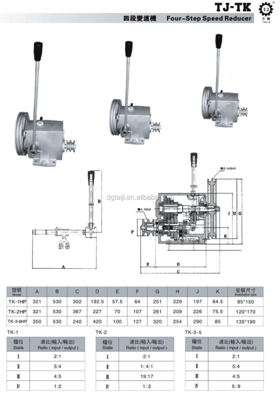 Four-step high torque flat motor speed reducer