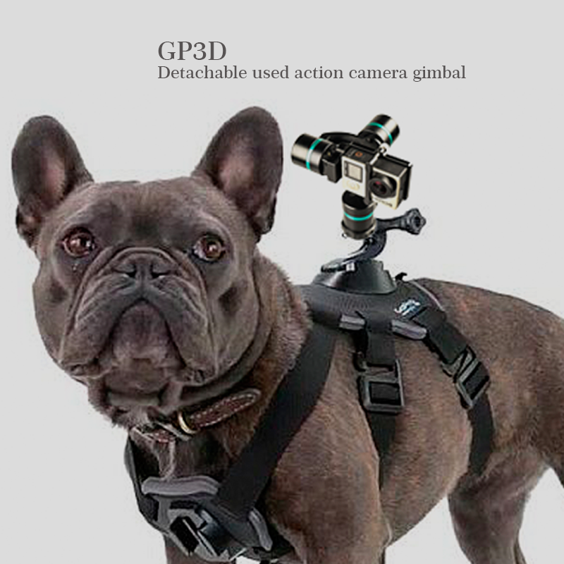 High quality XIJOY GP3D handheld gimbal 3 axis go pro sport camera