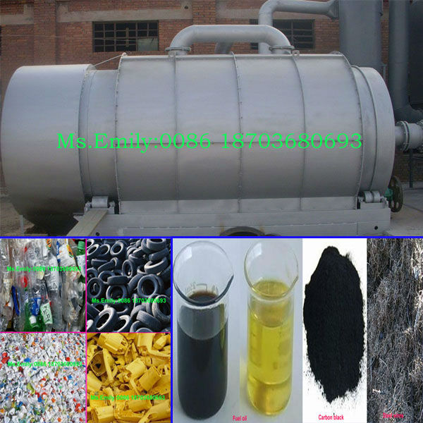 rubber oil refining machine/waste tyre recycling machine /tyre oil pyrolysis plant 0086 18703680693