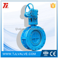 double eccentric rubber sealing fm ul wafer butterfly valves gear tamper switch din/ansi wras cert