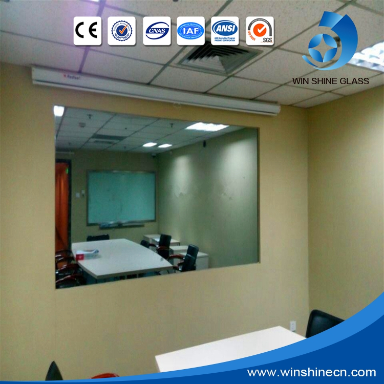 4mm,6mm,8mm,12mm Magic one way mirror glass sheet for TV