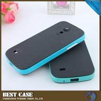 Hot Selling Hybrid Hard Bumper Case For Samsung Galaxy S4 Mini TPU Cover