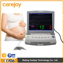 9 parameter Medical Baby Product Fetal Monitor Cardiac Monitoring Equipment with CE