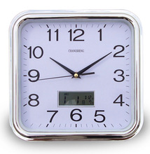 digital LCD wall clock calendar design Chinese cheap small square clock
