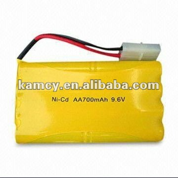 Shenzhen Battery manufactuer supply nicd ni-cd battery pack 9.6v 700mah aa size