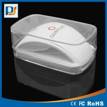 2.4Ghz Wireless notebook optical mouse with transparent plastic box packaging