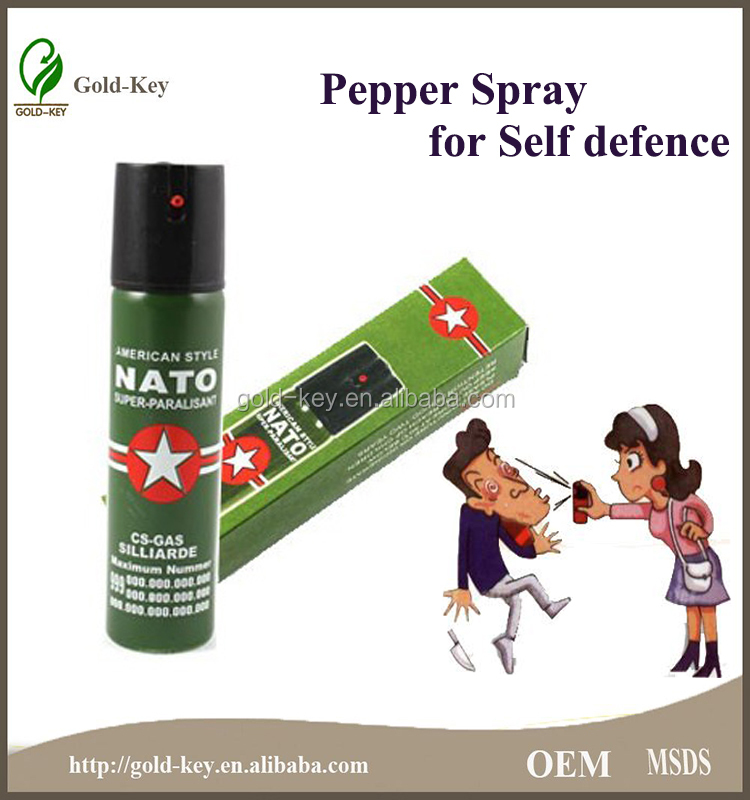 2015 60ml Deep Green Lighter Pepper Spray for Self Defence