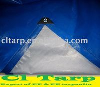 PE Tarpaulin with Blue/White Col for ship Canopy
