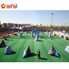 Inflatable paintball field inflatable paintball bunker for archery tag