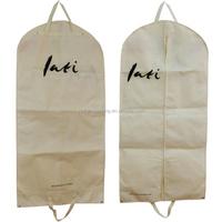 Cheap Foldable Extensions Non Woven white garment bag