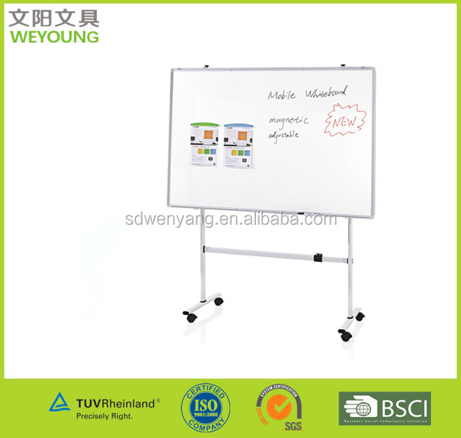 90x120cm Dry Erase Telescopic Mobile Whiteboard With Stand For School And Office