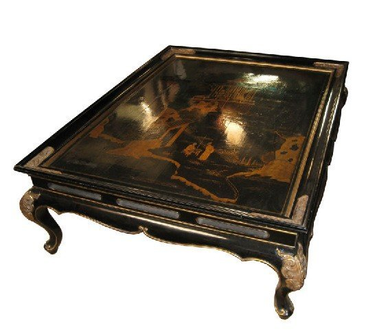 classique custom style asiatique table basse table basse. Black Bedroom Furniture Sets. Home Design Ideas