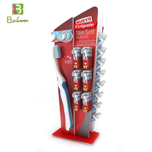 Pop floor counter cardboard floor shelf paper carton display stand for toothpaste and toothbrush