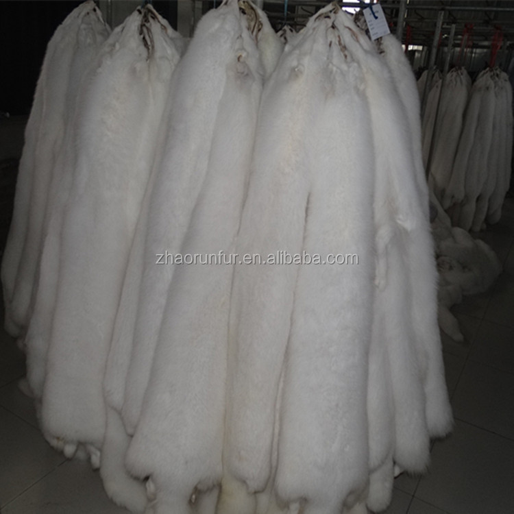 Factory Price Real White Fox Fur Skin /Dyed Fox Fur Skin Pelt From China