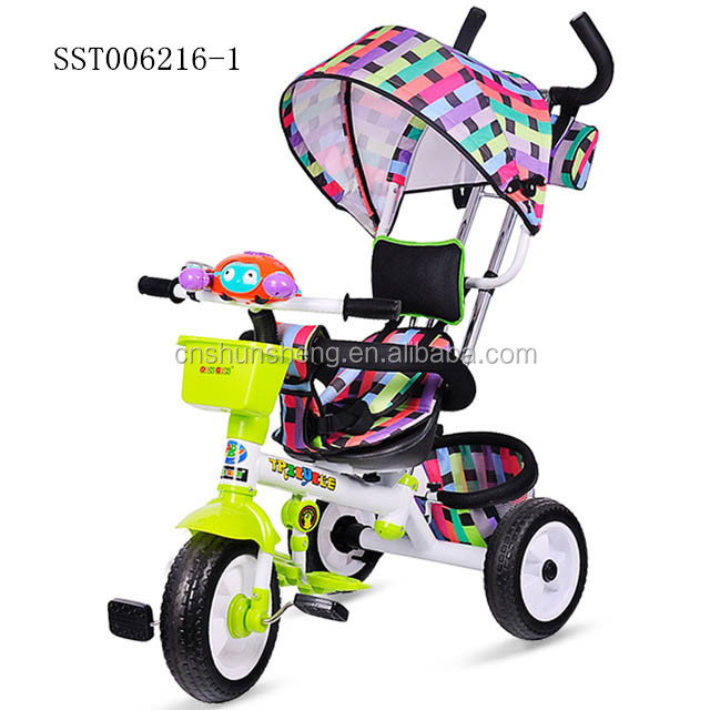 crab style baby tricycle with tent . best gift for kids