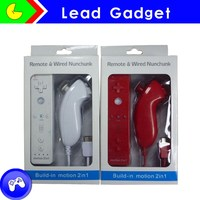 Colorful Wireless Remote Controller nunchuck for Wii, built in motion plus