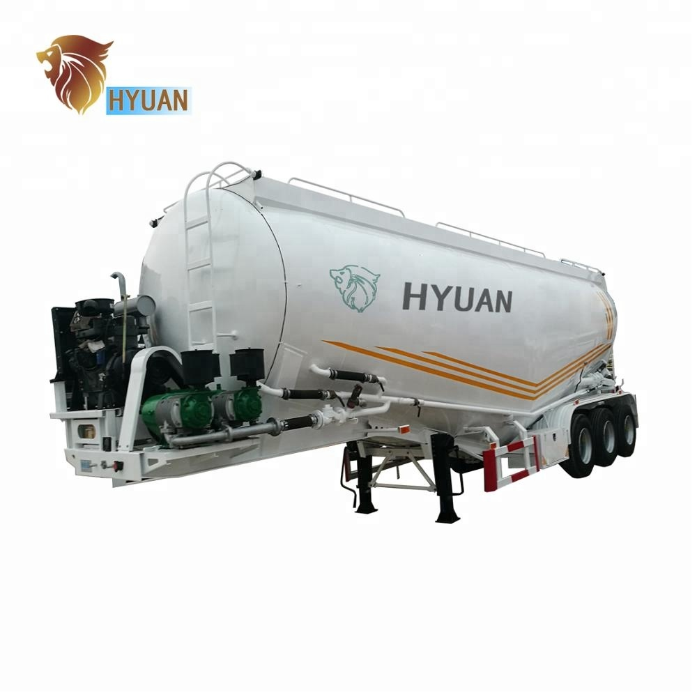 HYUAN Tri <strong>Axles</strong> 12 <strong>wheels</strong> Bulk Cement Tanker Semi Trailer